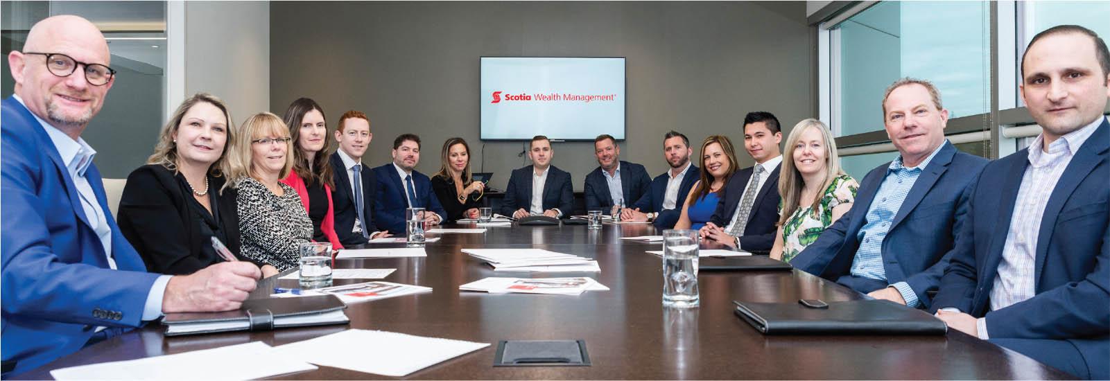 The Burlington Scotia Wealth Management team - MarQuee Magazine Special Feature